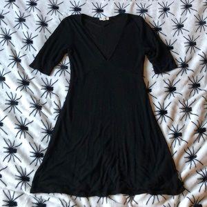 Silence + Noise black v-neck basic comfy dress